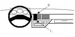 Fixation voiture Proclip  Brodit Nissan Micra Réf 851872