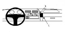 Fixation voiture Proclip  Brodit Toyota HiAce Réf 851874