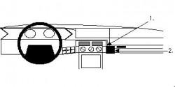 Fixation voiture Proclip  Brodit Citroen XM Réf 851879