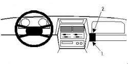 Fixation voiture Proclip  Brodit Suzuki Sidekick Réf 851884