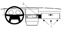 Fixation voiture Proclip  Brodit Volvo 340/360 Réf 851888