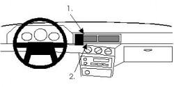 Fixation voiture Proclip  Brodit Volvo 740 Réf 851893