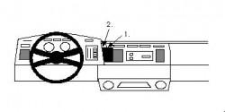 Fixation voiture Proclip  Brodit Chevrolet Astro Réf 851894