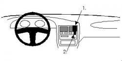 Fixation voiture Proclip  Brodit Infiniti G20 Réf 851899