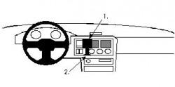 Fixation voiture Proclip  Brodit Ford Escort Réf 851901