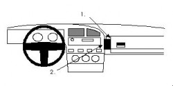 Fixation voiture Proclip  Brodit Volkswagen Corrado Réf 851903