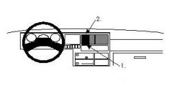 Fixation voiture Proclip  Brodit Volkswagen Caravelle Réf 851907