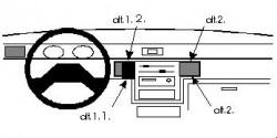 Fixation voiture Proclip  Brodit Mitsubishi L200 Réf 851908