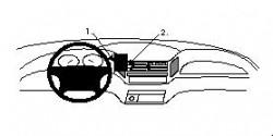 Fixation voiture Proclip  Brodit Toyota Previa  PAS pour les modèles avec changement de vitesse automatique. Réf 851909
