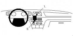 Fixation voiture Proclip  Brodit Citroen BX Réf 851910