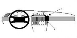 Fixation voiture Proclip  Brodit Audi 100 C4 Series Réf 851912