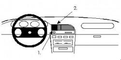 Fixation voiture Proclip  Brodit Nissan Sunny Sedan Réf 851916