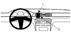 Fixation voiture Proclip  Brodit Mitsubishi Diamante Réf 851918