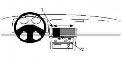 Fixation voiture Proclip  Brodit Daihatsu Charade Réf 851921