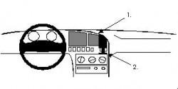 Fixation voiture Proclip  Brodit Hyundai Elantra Réf 851923