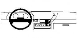 Fixation voiture Proclip  Brodit Renault Clio I Réf 851925
