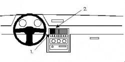 Fixation voiture Proclip  Brodit Hyundai Excel Réf 851926