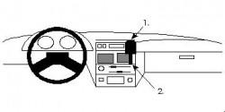 Fixation voiture Proclip  Brodit Citroen AX Réf 851927