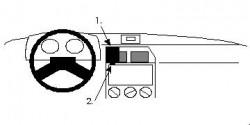 Fixation voiture Proclip  Brodit Citroen ZX Réf 851928