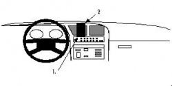 Fixation voiture Proclip  Brodit Fiat Croma Réf 851931