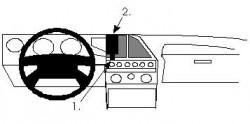 Fixation voiture Proclip  Brodit Lancia Thema Réf 851933