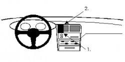 Fixation voiture Proclip  Brodit Nissan 100 NX Réf 851934
