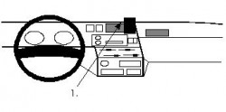 Fixation voiture Proclip  Brodit Nissan King Van Réf 851935