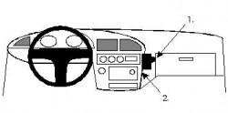 Fixation voiture Proclip  Brodit Toyota Camry Réf 851942