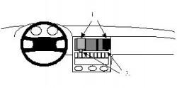 Fixation voiture Proclip  Brodit Audi 80 Réf 851947