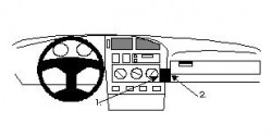Fixation voiture Proclip  Brodit Volkswagen Golf III Réf 851951