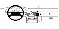 Fixation voiture Proclip  Brodit Mazda 626 Réf 851953