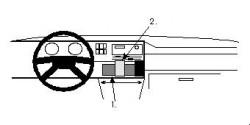 Fixation voiture Proclip  Brodit Volkswagen Golf Réf 851959
