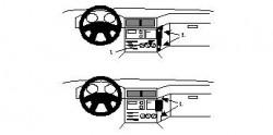Fixation voiture Proclip  Brodit BMW 518-540/M5 E34 Réf 851962