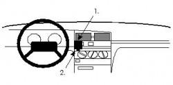 Fixation voiture Proclip  Brodit Peugeot 405 Réf 851964
