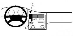 Fixation voiture Proclip  Brodit Toyota Carina Réf 851969