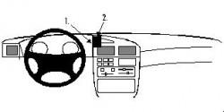 Fixation voiture Proclip  Brodit Peugeot 405 Réf 851977