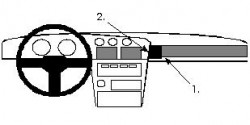 Fixation voiture Proclip  Brodit Toyota Supra Réf 851981