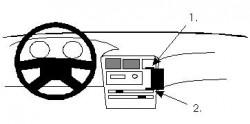 Fixation voiture Proclip  Brodit Toyota Corolla Réf 851982