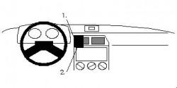 Fixation voiture Proclip  Brodit Citroen ZX Réf 851988