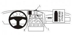 Fixation voiture Proclip  Brodit Volkswagen Cabrio Réf 851990