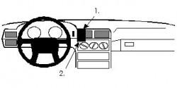 Fixation voiture Proclip  Brodit Volvo 850 Réf 851993