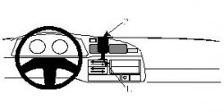 Fixation voiture Proclip  Brodit Toyota LandCruiser Réf 851994
