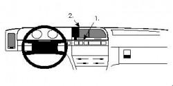 Fixation voiture Proclip  Brodit Citroen Xantia Réf 851996