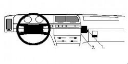 Fixation voiture Proclip  Brodit Citroen Xantia Réf 851997