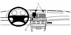 Fixation voiture Proclip  Brodit BMW 730-750 E32 Réf 851998