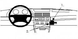 Fixation voiture Proclip  Brodit BMW 730-750 E32 Réf 851999