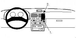 Fixation voiture Proclip  Brodit Toyota Starlet Réf 852002
