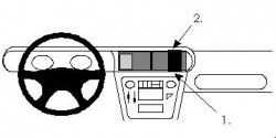 Fixation voiture Proclip  Brodit Opel Senator Réf 852010