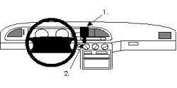 Fixation voiture Proclip  Brodit Ford Mondeo Réf 852011