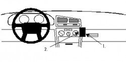 Fixation voiture Proclip  Brodit Mitsubishi Galant Réf 852013